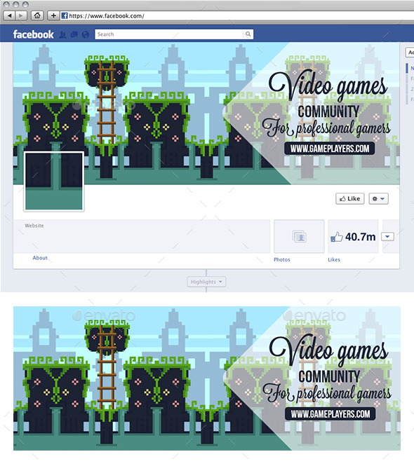 GraphicRiver Video Game Facebook Timeline 11868665