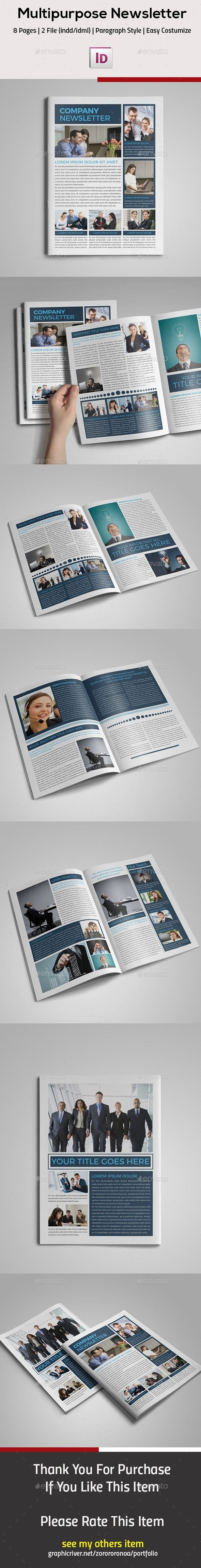 GraphicRiver Multipurpose InDesign Newsletter 11868713