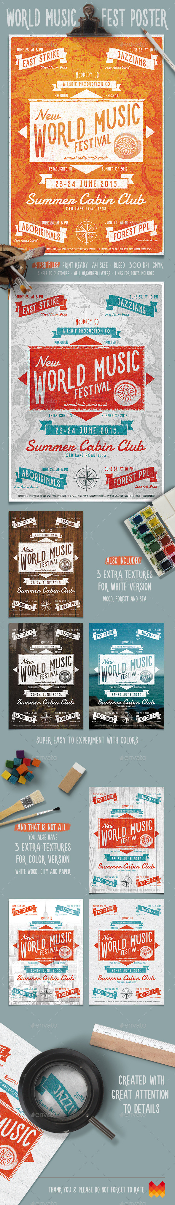 GraphicRiver World Music Fest Flyer Poster 11868768