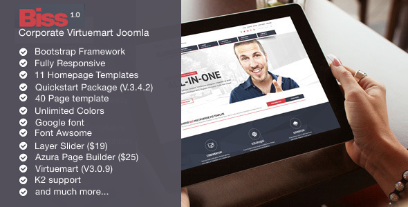 ThemeForest Biss Corporate Virtuemart Joomla Template 11788991