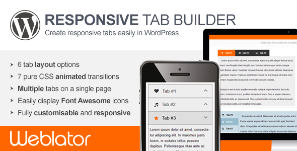 Responsive Tab Builder (Interface Elements) Download