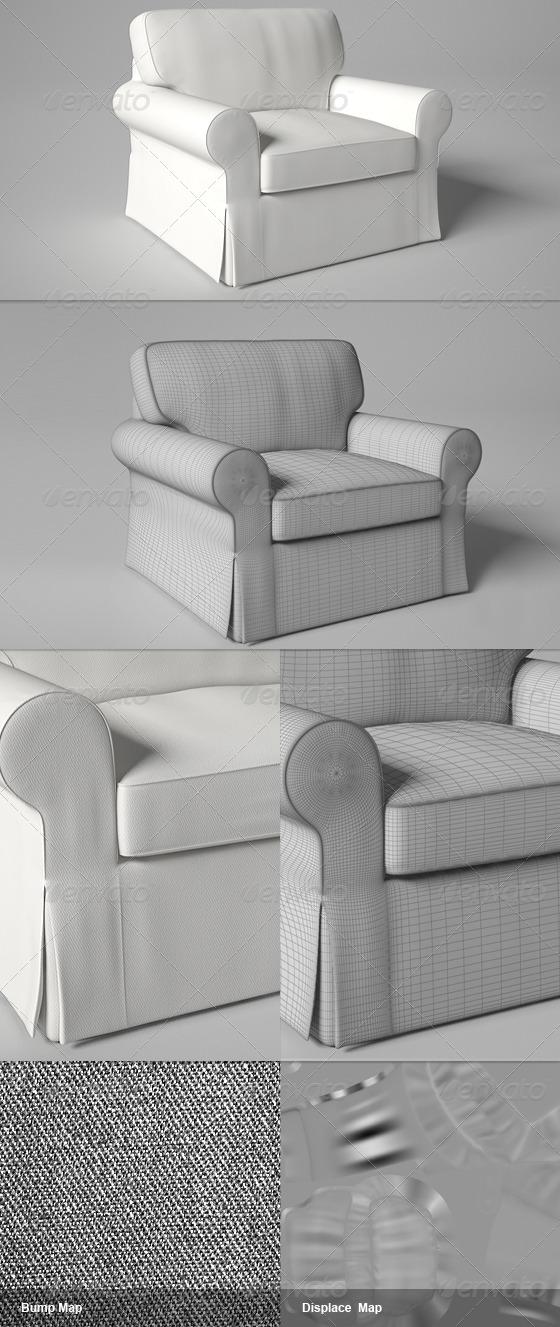 3DOcean Ektorp IKEA Chair 145411