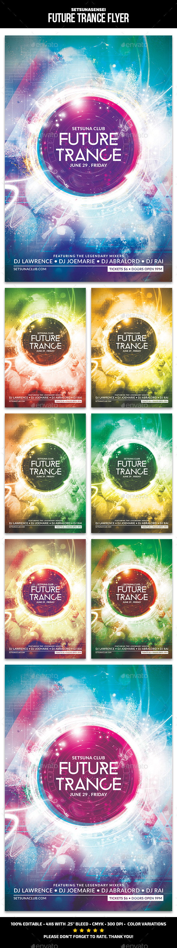 GraphicRiver Future Trance Flyer 11868899
