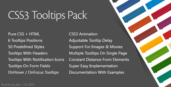 CodeCanyon CSS3 Tooltips Pack 1191630