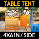 Sushi Restaurant Table Tent Template - GraphicRiver Item for Sale