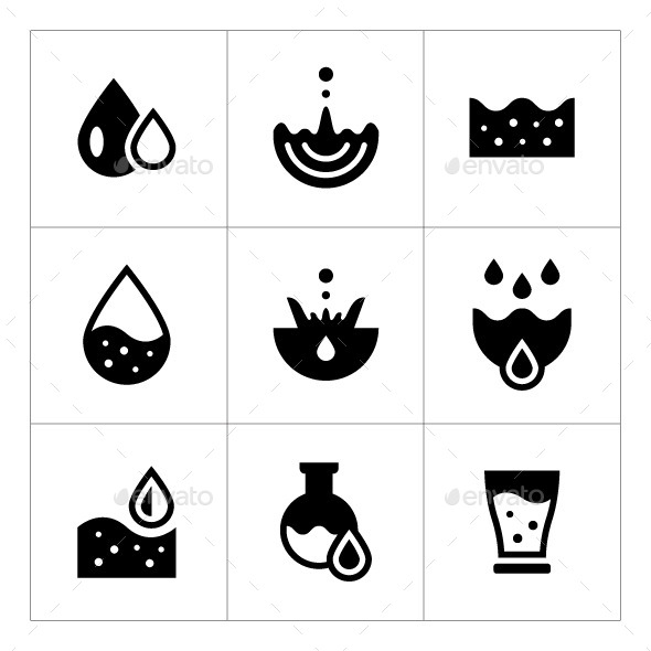 GraphicRiver Set Icons of Water 11869423