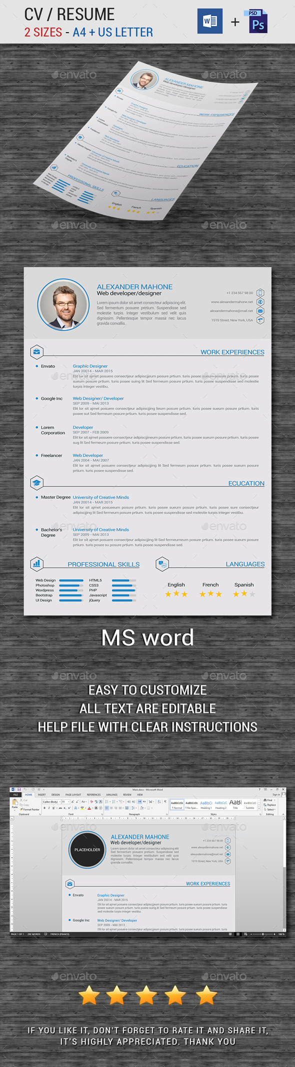 GraphicRiver Resume CV 11869465
