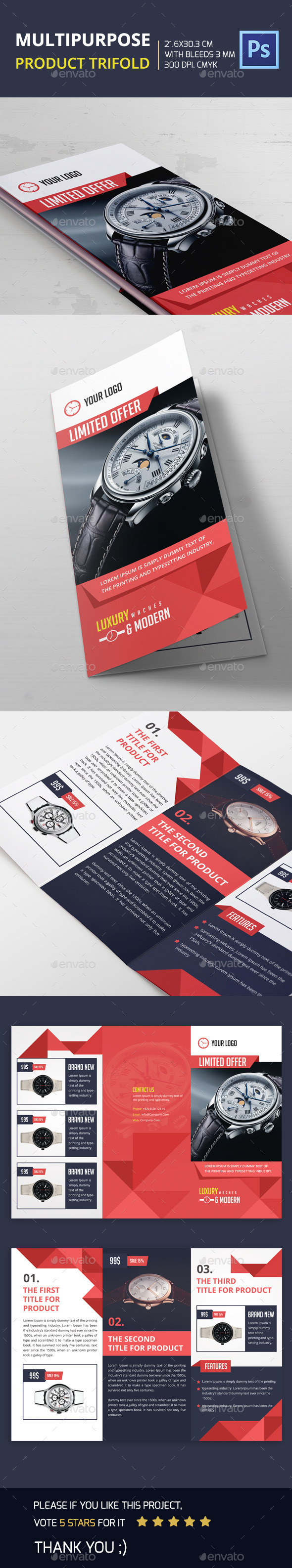 GraphicRiver Multipurpose Product Trifold 11869466