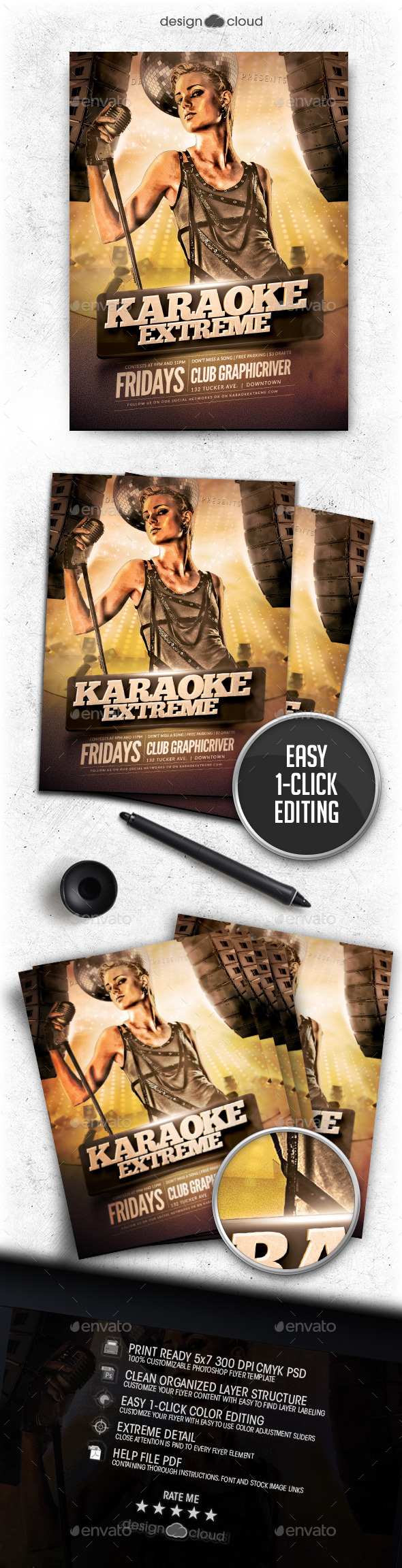 GraphicRiver Karaoke Extreme Flyer Template 11870450