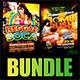Reggae vs Soca Party Flyer Bundle