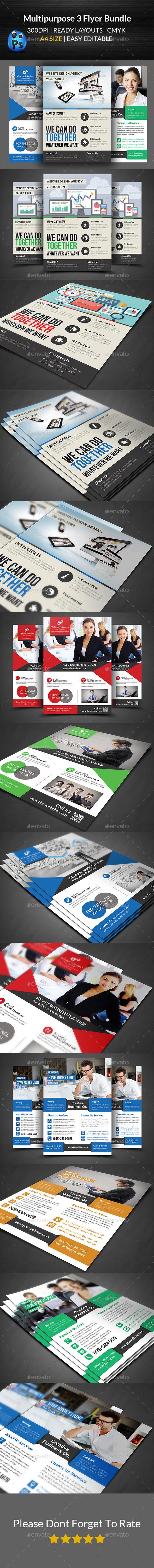 GraphicRiver Multipurpose Business Flyer Bundle 11870670