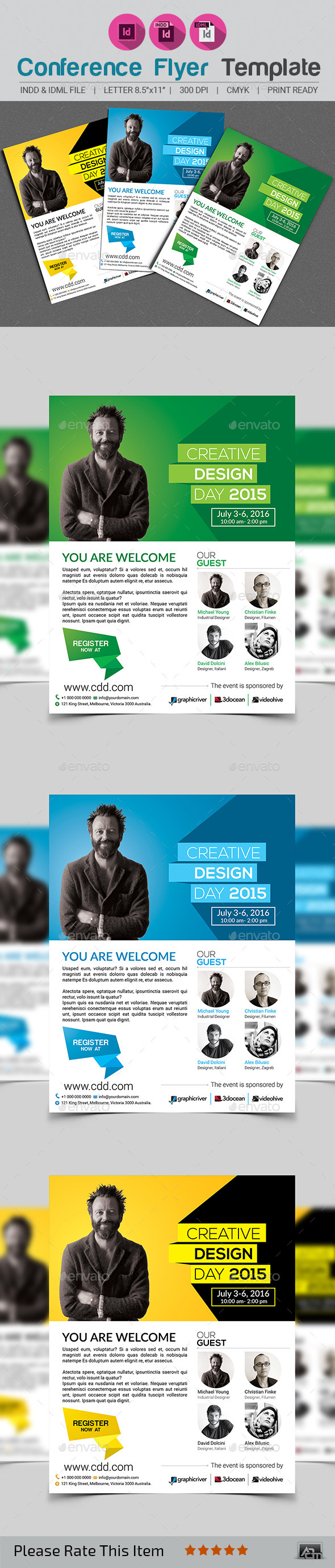GraphicRiver Conference Flyer Template 11870920