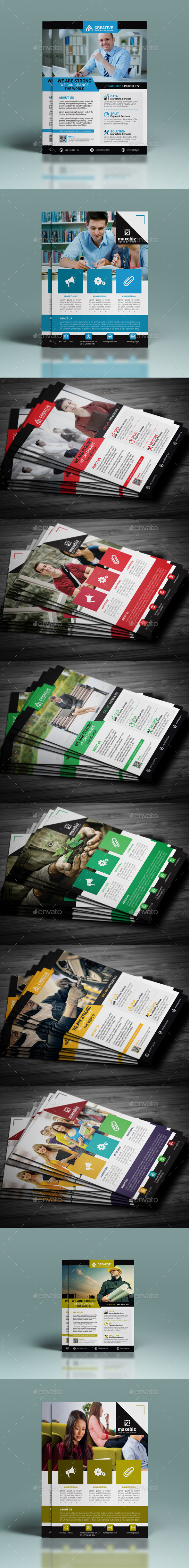 GraphicRiver Corporate Flyer Bundle 11871009
