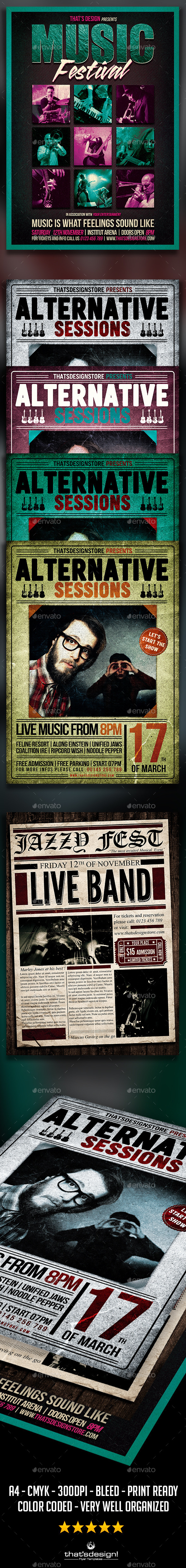 GraphicRiver Concert Live Flyer Bundle V3 11871024