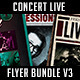 Concert Live Flyer Bundle V3 - GraphicRiver Item for Sale