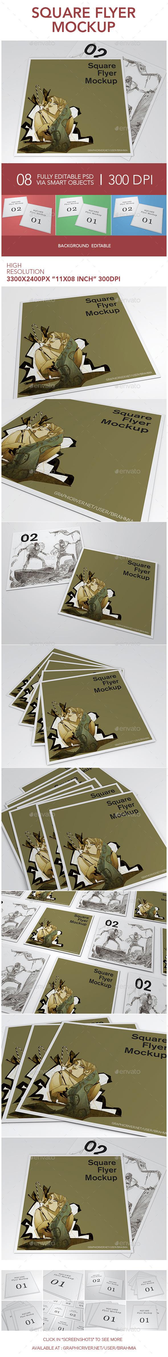 GraphicRiver Square Flyer Mockup 11871106