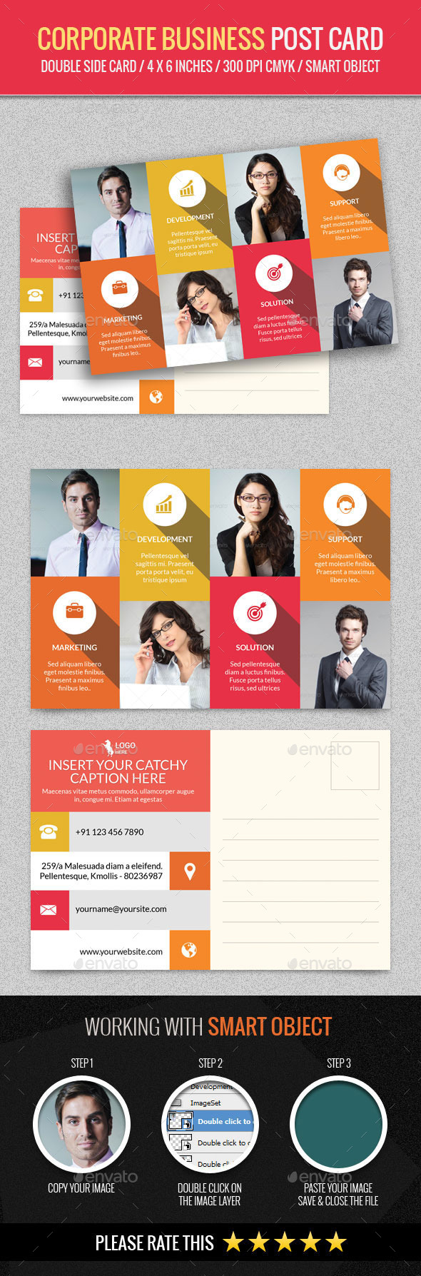 GraphicRiver Corporate and Business Post Card Template 11871107