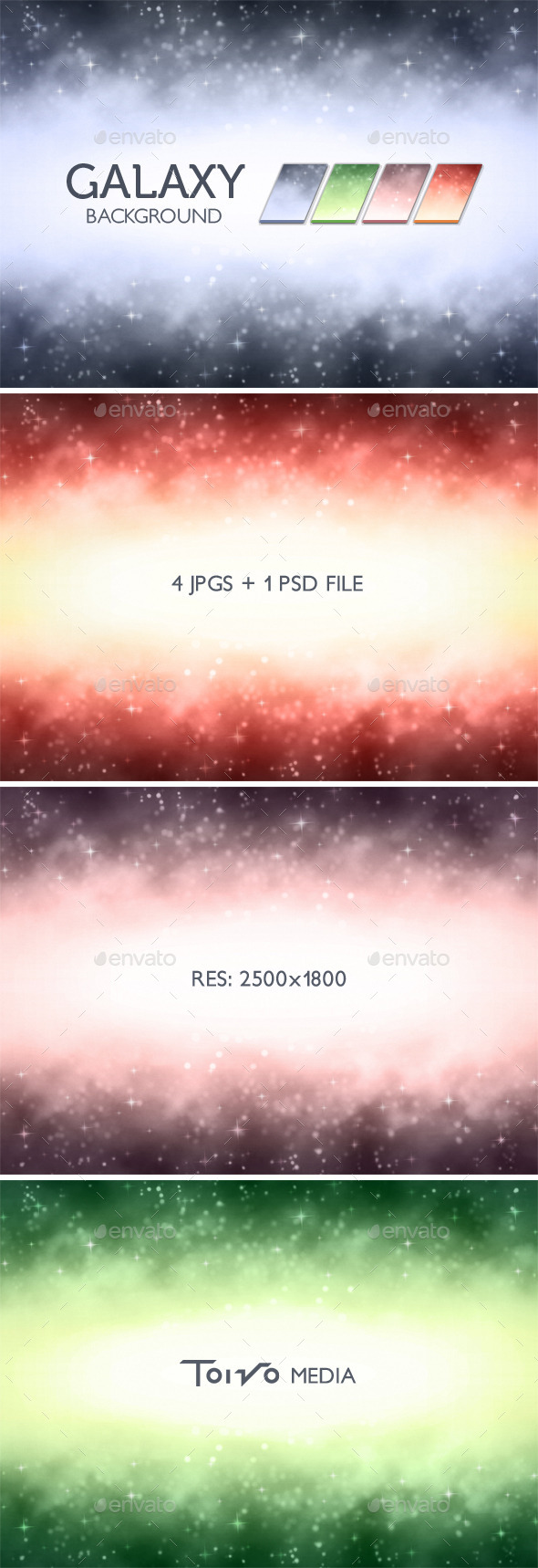 GraphicRiver Galaxy Background 11871130