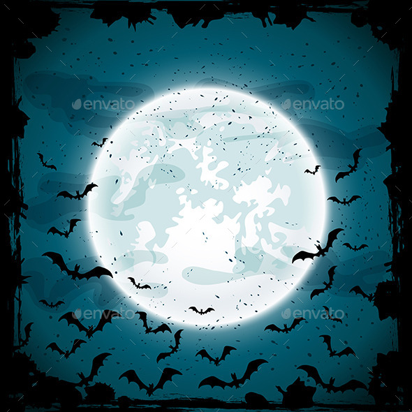 GraphicRiver Moon and Bats 11871136