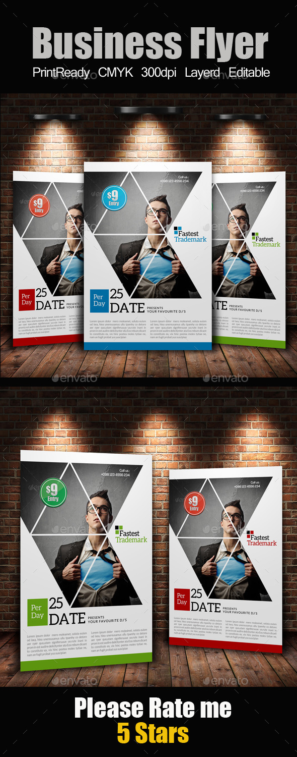 GraphicRiver A4 Business Flyer Template 11871211