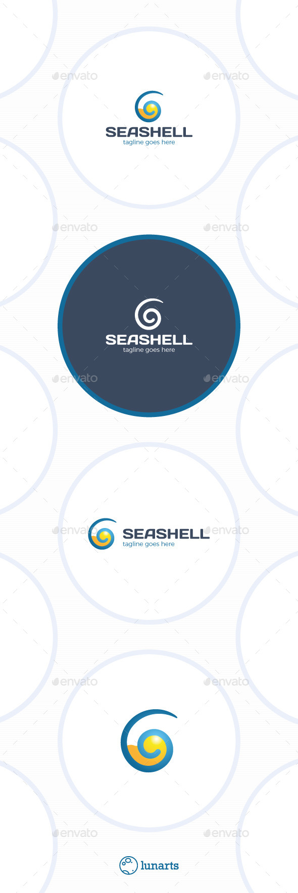 GraphicRiver Sea Shell Logo Travel 11871239