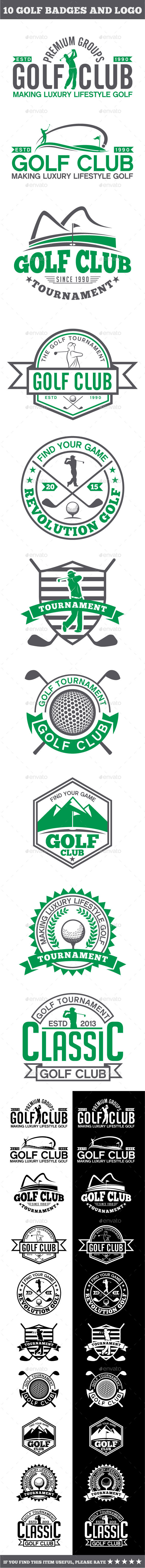 GraphicRiver 10 Golf Badges-Stickers & Logos 11871272