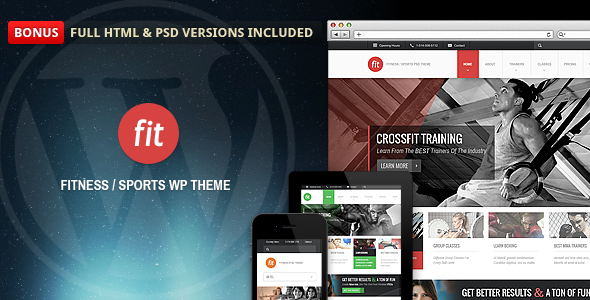 FIT - Fitness/Gym Responsive WordPress Theme