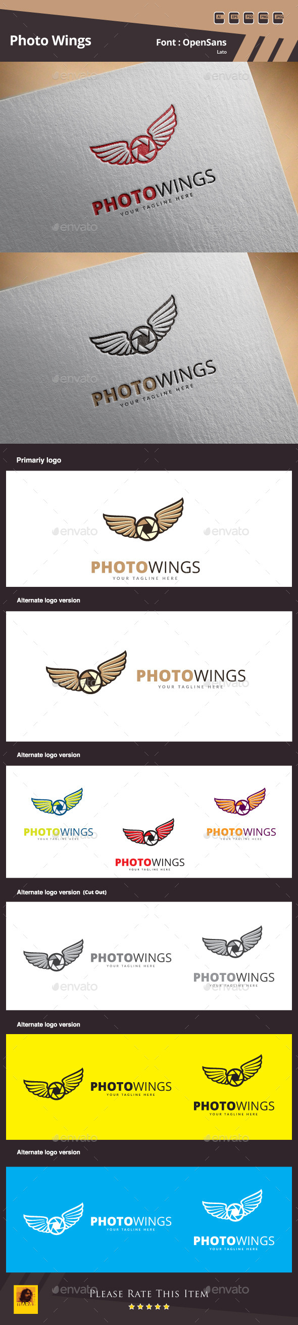 GraphicRiver Photo Wings Logo Template 11871283