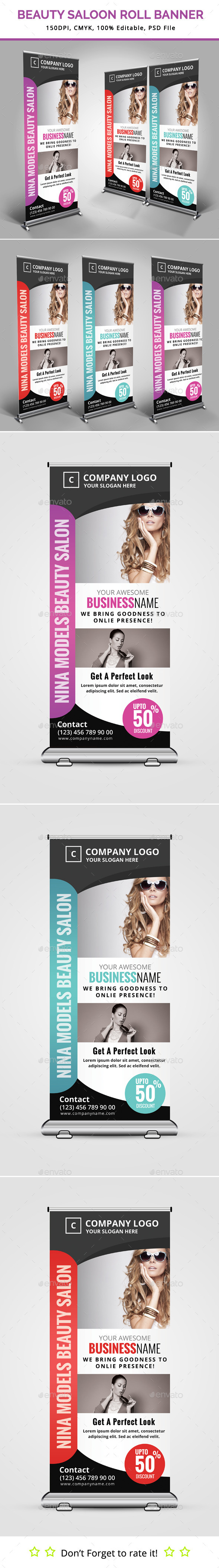 GraphicRiver Beauty Saloon Roll Up Banner 11871304