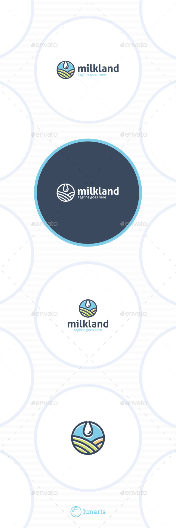 GraphicRiver Milk Land Logo Drop Field 11871466