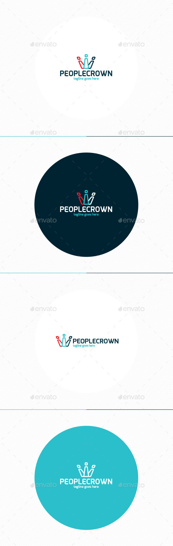 GraphicRiver People Crown Logo 11871471