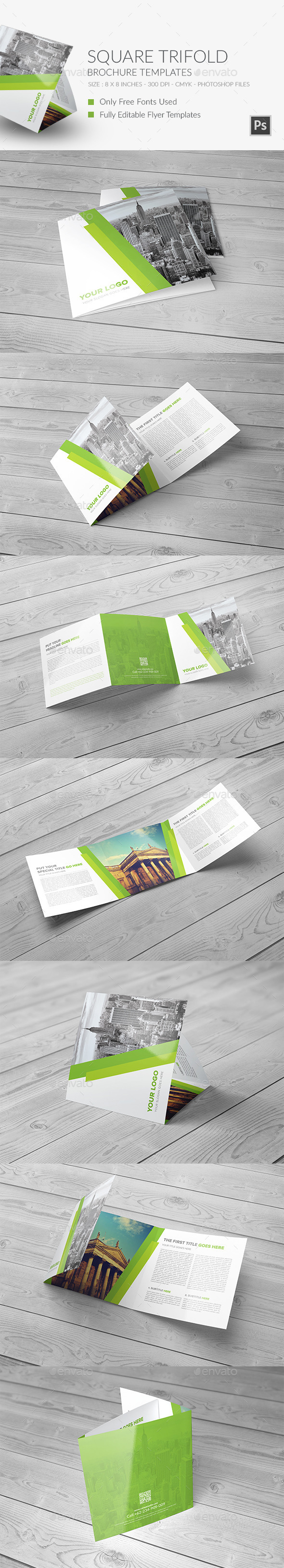 GraphicRiver Square Trifold Brochure vol 1 11871655