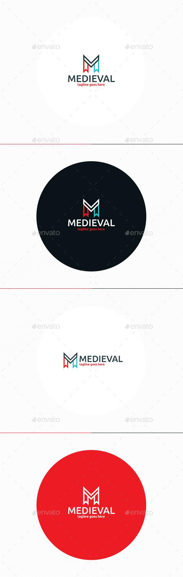 GraphicRiver Medieval Logo Letter M 11871713