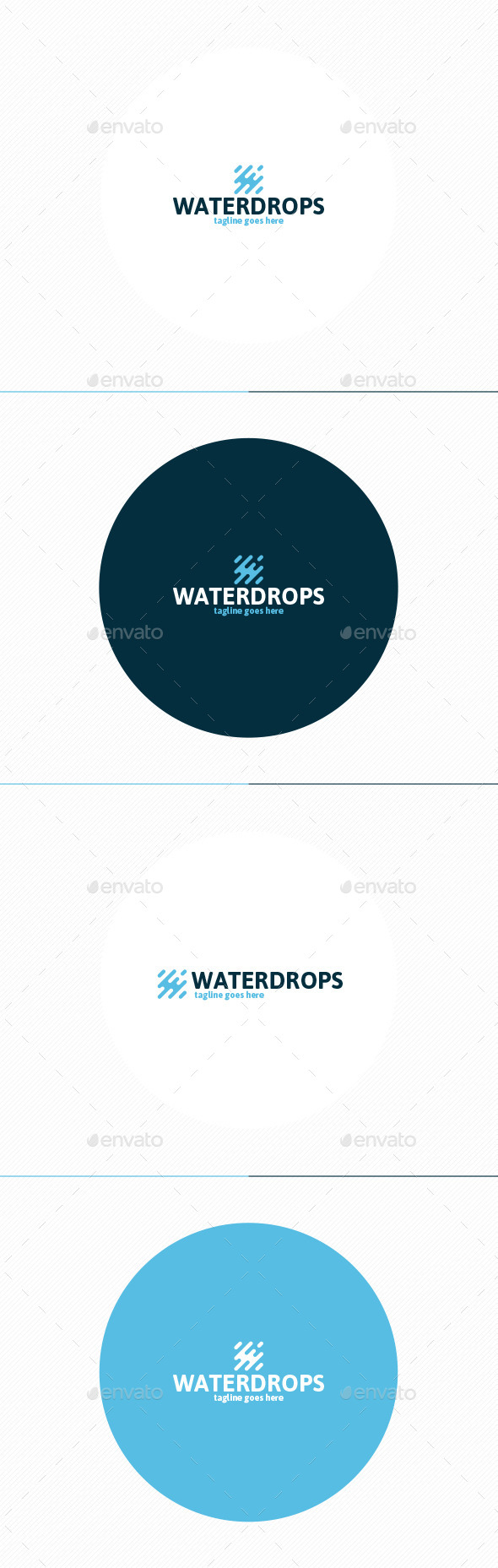 GraphicRiver Water Drops Logo 11871732