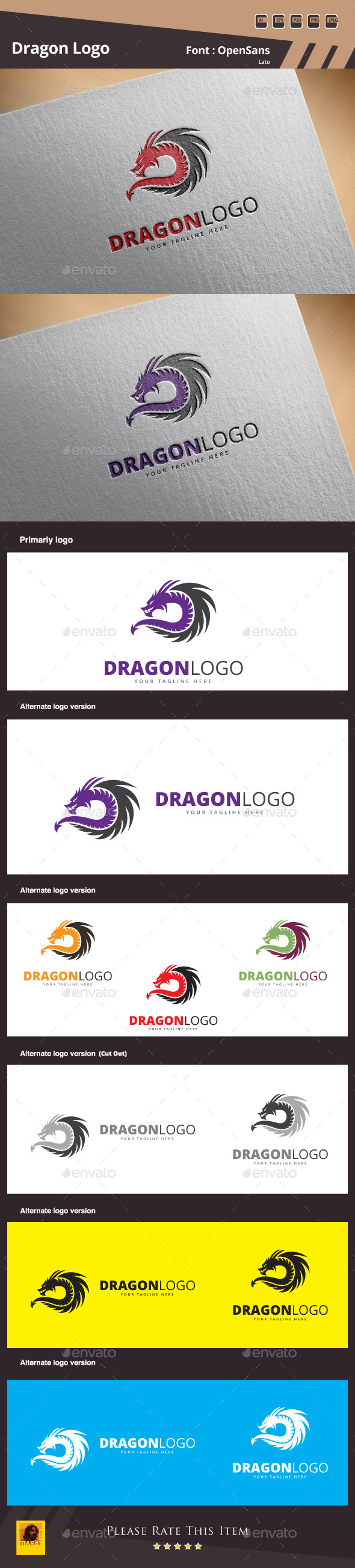 GraphicRiver Dragon Logo Template 11871733