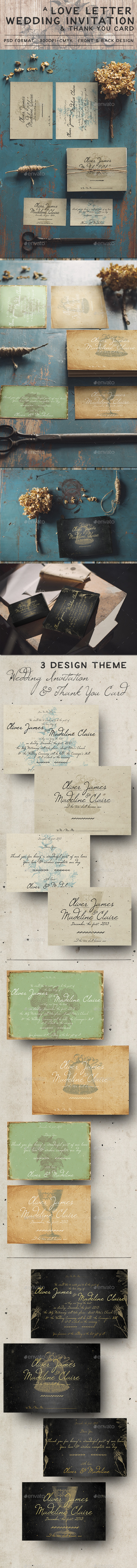 GraphicRiver Love Letter Wedding Invitation 11871782