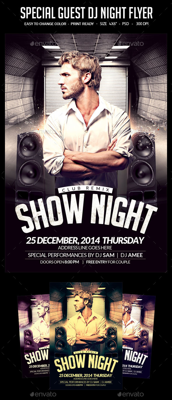 GraphicRiver Special Guest Dj Night Flyer 11872559