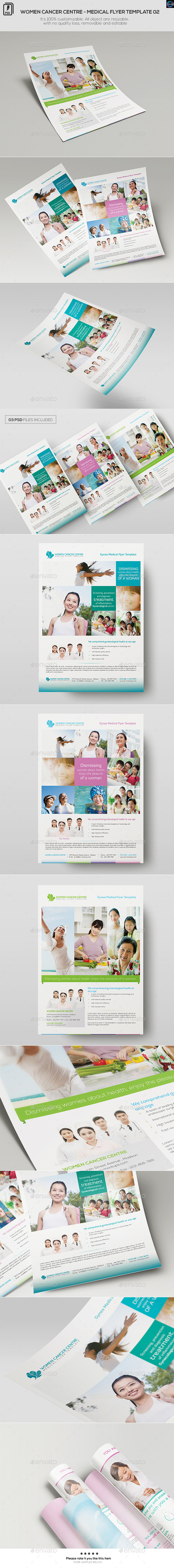 GraphicRiver Women Cancer Centre Medical Flyer Template 01 11872560