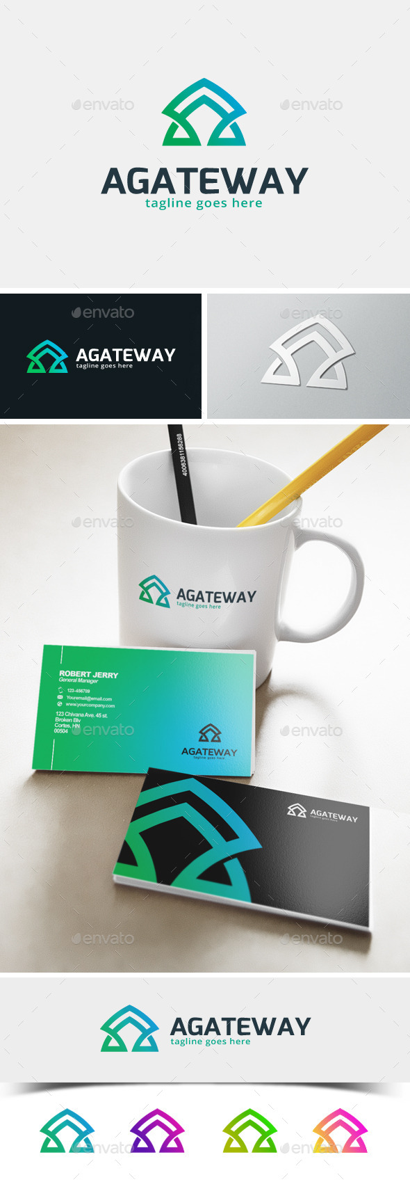 GraphicRiver Agateway Letter A logo 11872568