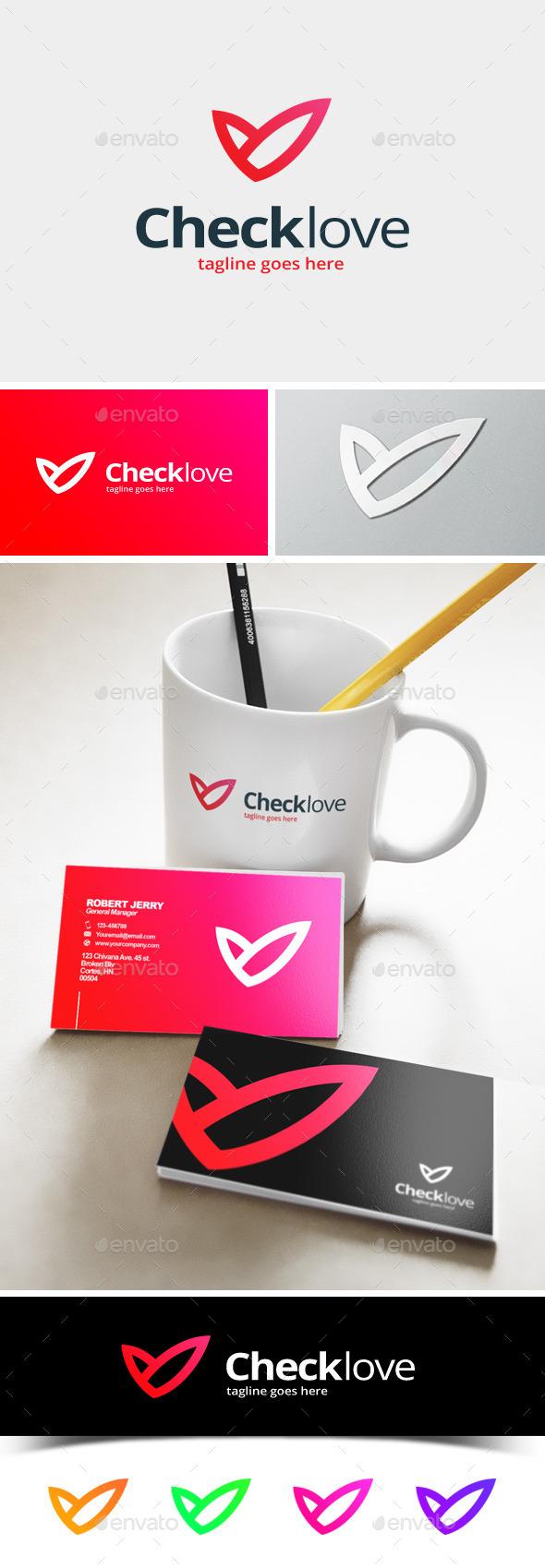 GraphicRiver Check Love Logo 11872576