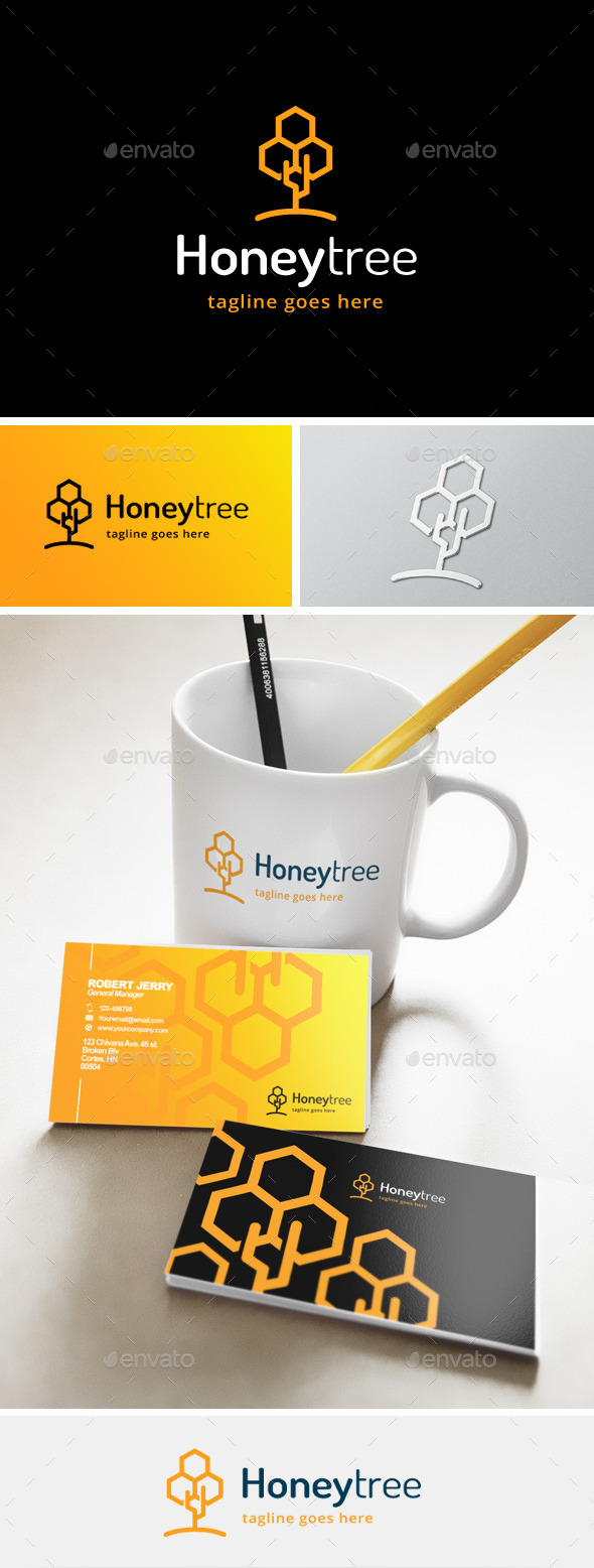 GraphicRiver Honey Tree Logo 11872580
