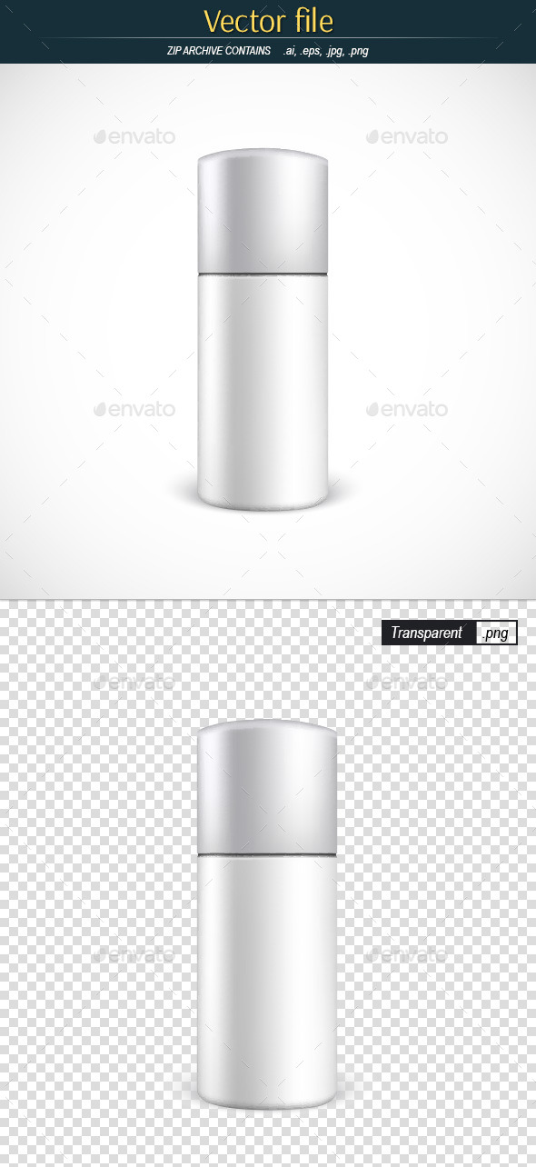 GraphicRiver Closed Aerosol Spray Metal Bottle 11873056