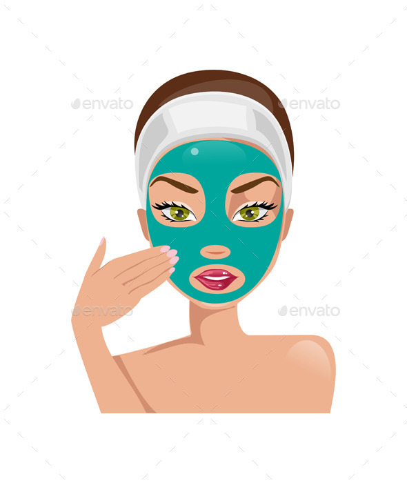 GraphicRiver Female Face With a Mask 11873263