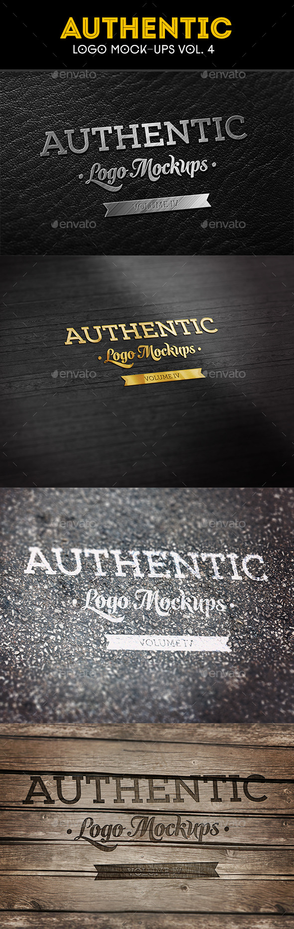 GraphicRiver Authentic Logo Mockups Vol 4 10927671