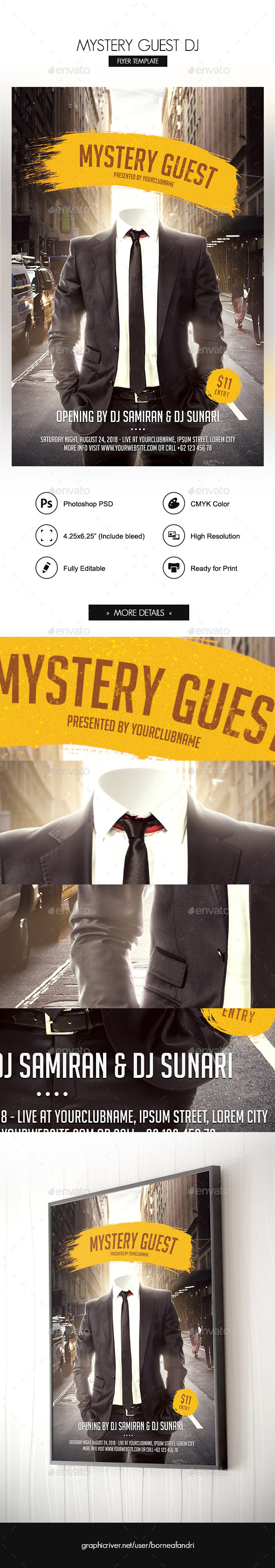 GraphicRiver Mystery Guest DJ Flyer 11873653