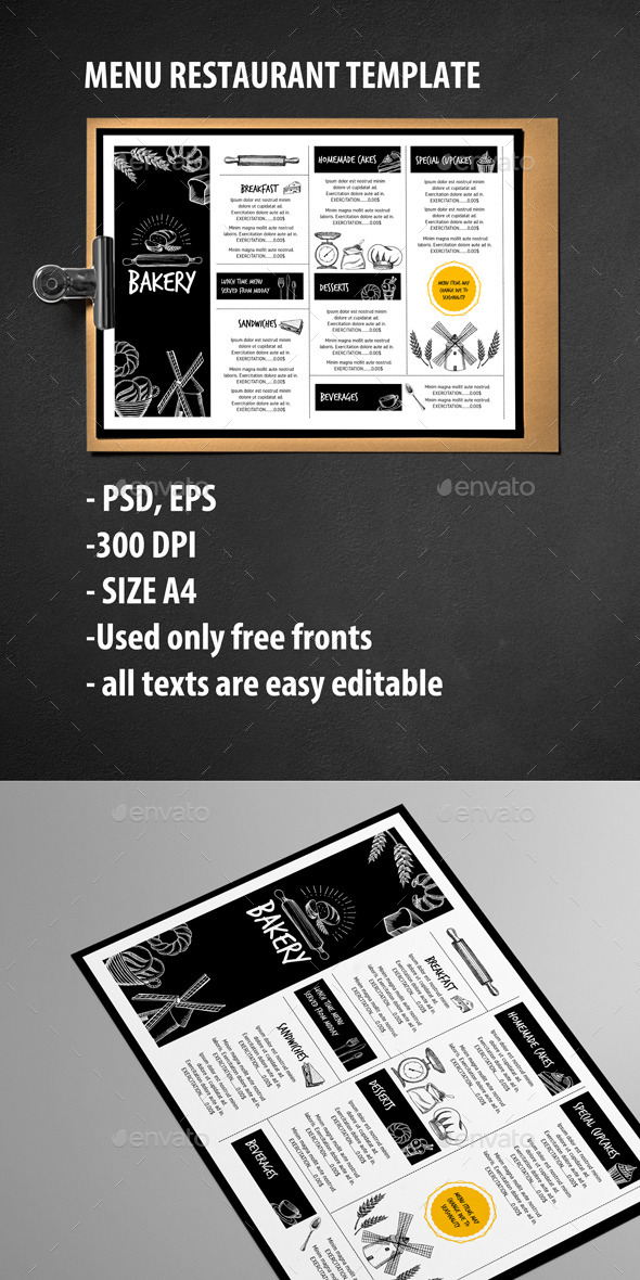 GraphicRiver Menu Restaurant Template 11873667