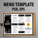 Menu Restaurant Template - GraphicRiver Item for Sale