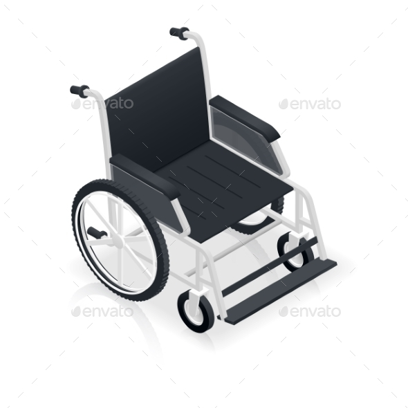 GraphicRiver Wheelchair Detailed Isometric Icon 11873827