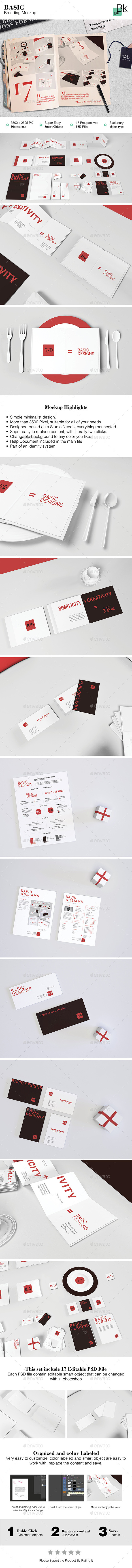 GraphicRiver Stationery Mockup Basic 11874106
