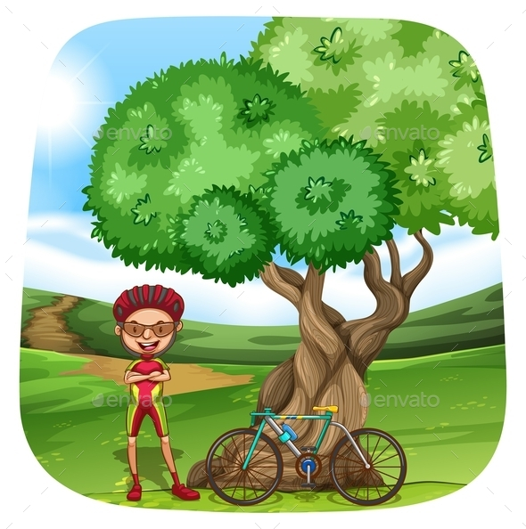 GraphicRiver Cyclist 11874118